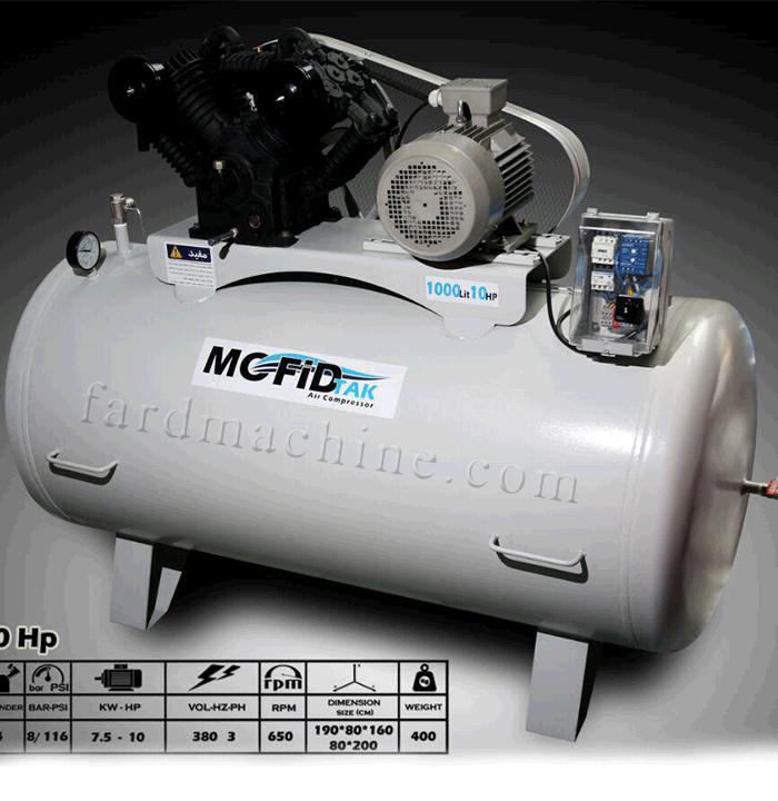 کمپرسور 1000 لیتری 4 سیلندر مفید
